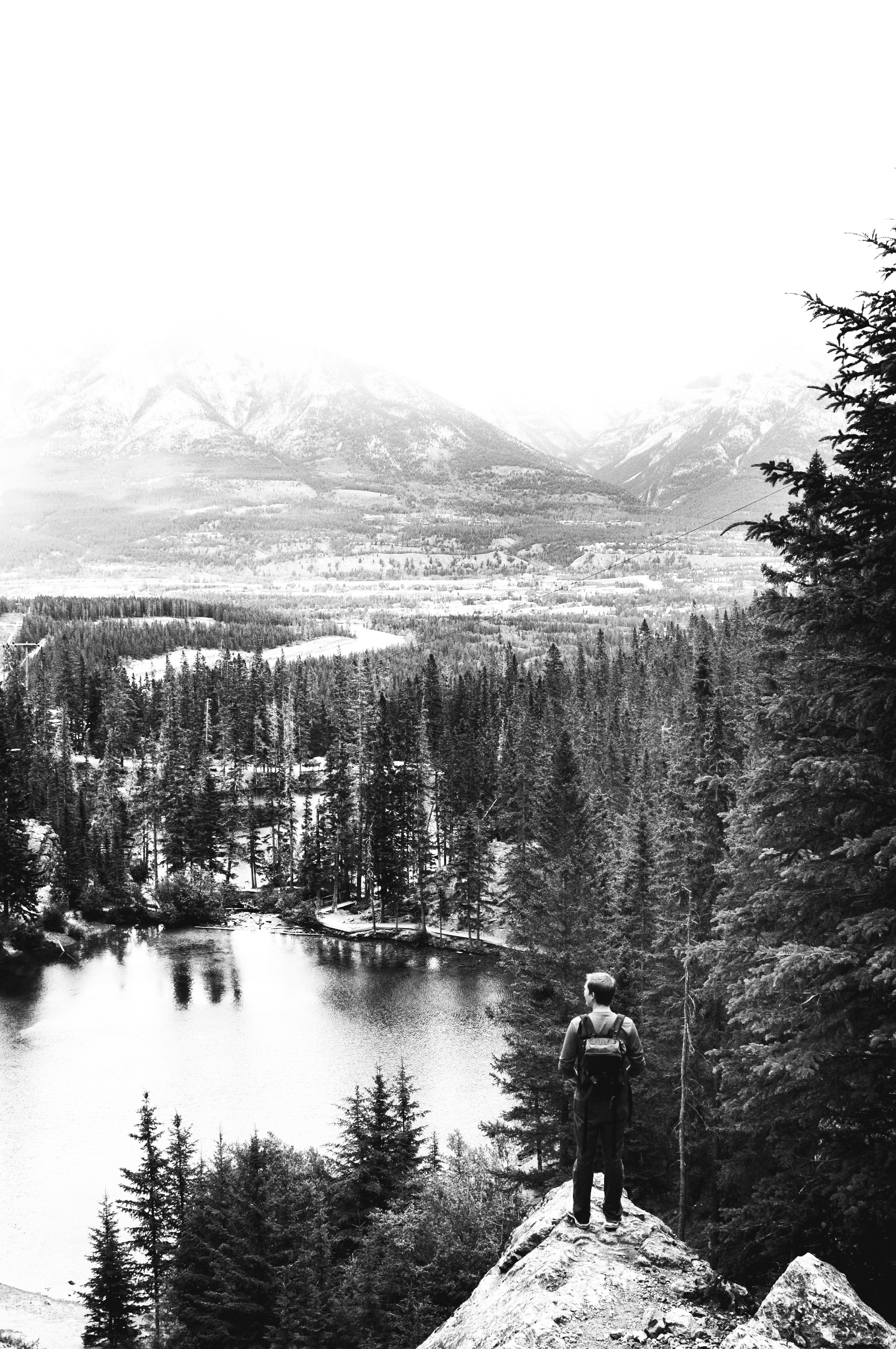 Here is banff in black and white see more pictures from canada here here here and here