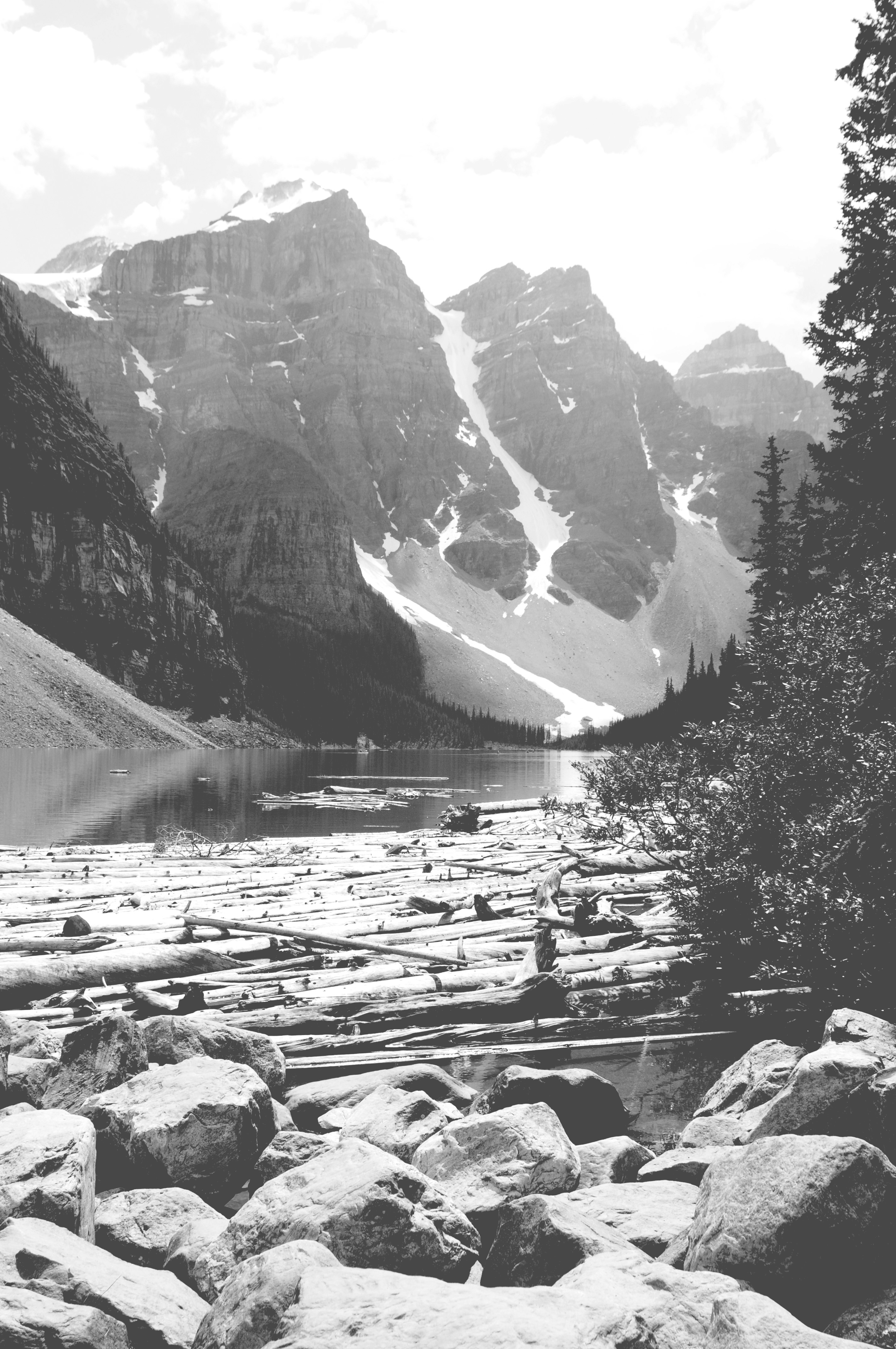 Here is banff in black and white see more pictures