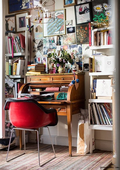 Ramdane-and-Victoires-Paris-Apartment-Eiffel-Tower-7th-arrondissement-desk-library-study
